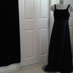 Night Way Black Long Evening Dress Ladies Sz 6
